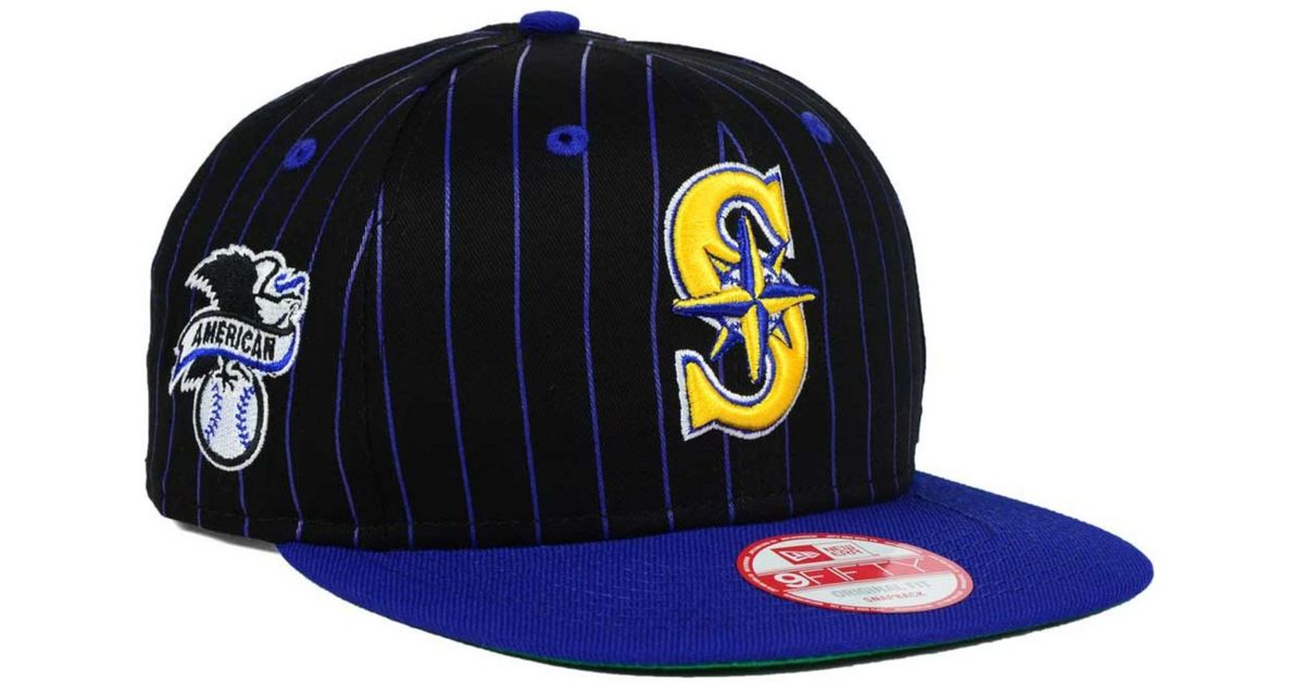Lyst - KTZ Seattle Mariners Vintage Pinstripe 9fifty Snapback Cap in Blue  for Men b3d291d919e2