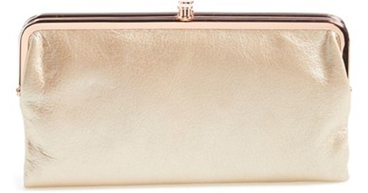 hobo lauren double frame clutch in pink lyst - Double Frame Clutch Wallet