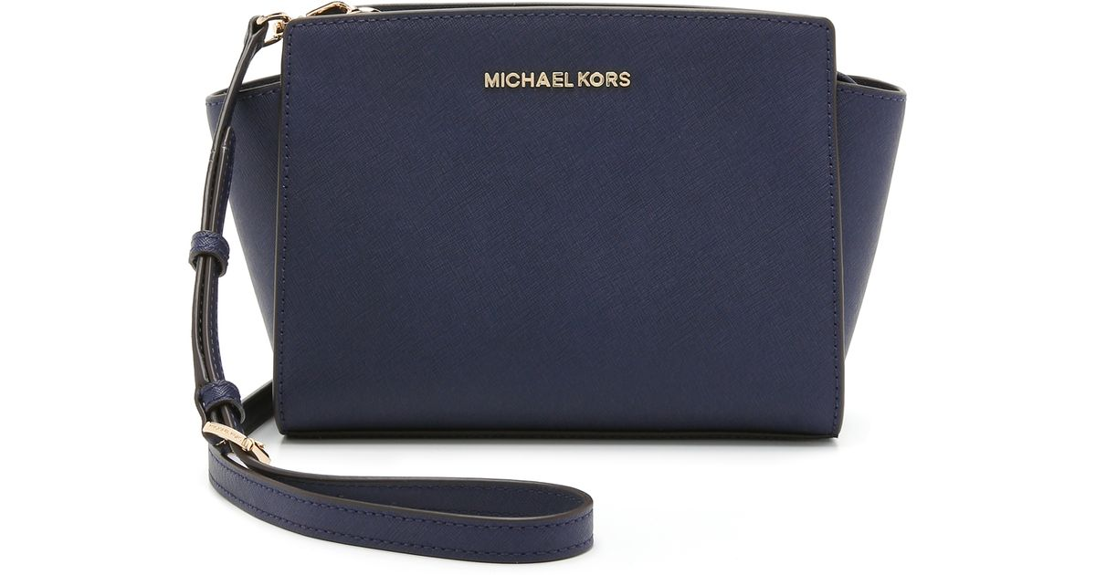 ... best price lyst michael michael kors selma medium messenger navy in  blue ee946 c55e8 997199e5240