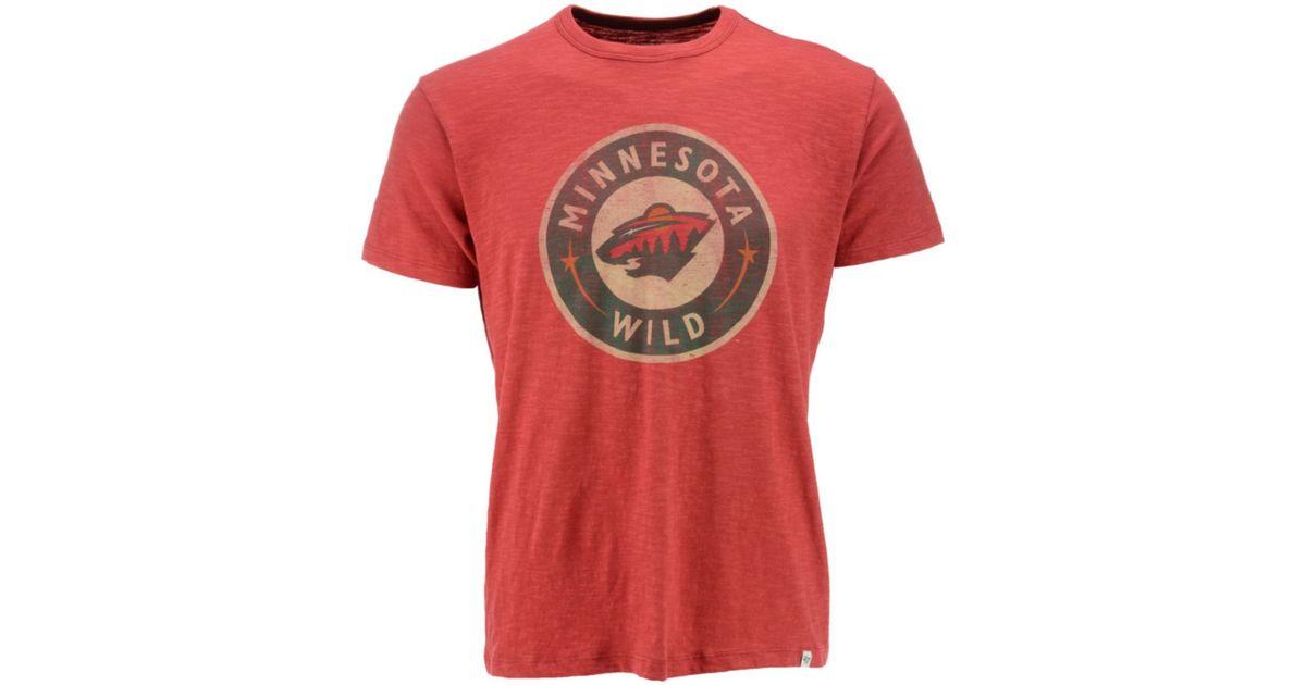 47 brand men 39 s short sleeve minnesota wild scrum t shirt