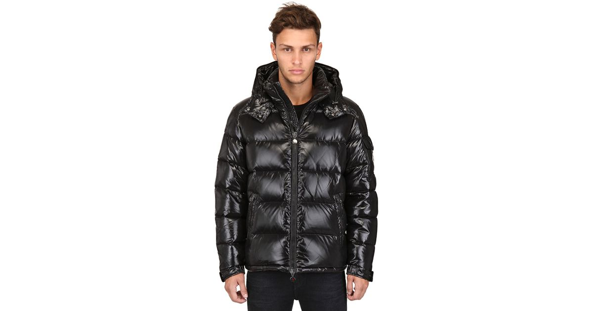 7f85abd9dfd0 ... clearance lyst moncler maya shiny nylon down jacket in black for men  34a93 b3b05