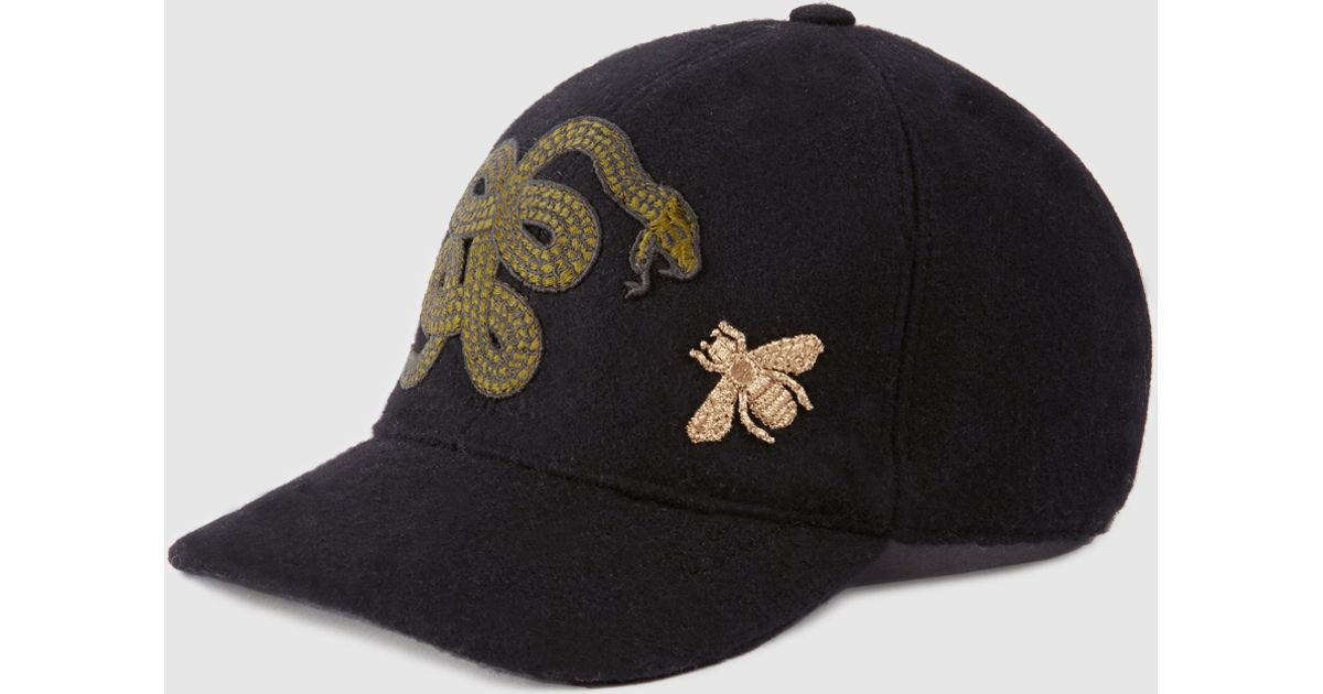Lyst - Gucci Felt Hat With Snake And Bee for Men 97af04943a1