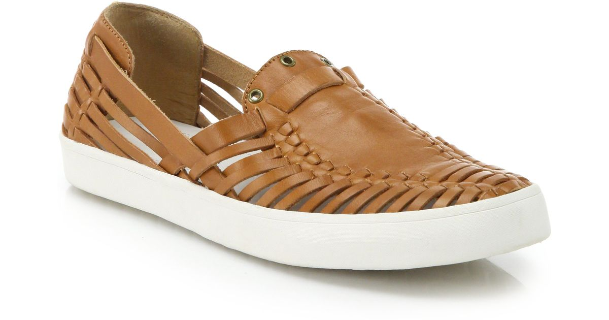 ... derek lam Lia Huarache Leather Skate Shoes in Brown (toffee) | Lyst