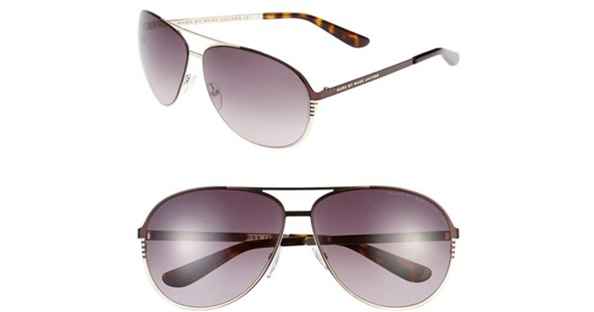 532529419d Lyst - Marc By Marc Jacobs 62mm Aviator Sunglasses - Light Gold in Metallic  for Men