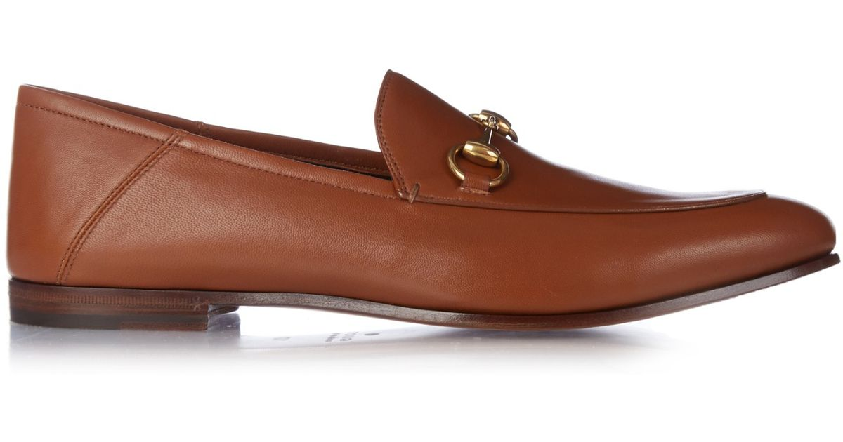 Gucci Brown Brixton Leather Loafers for men