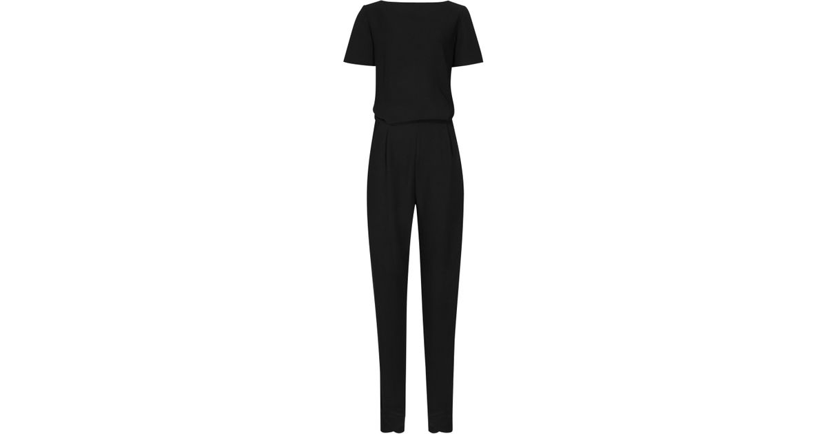 8d7f776e76 Reiss Button Back Link Jumpsuit in Black - Lyst