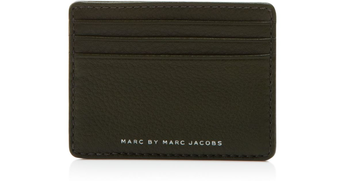 cheap for discount d94ab ceca1 Marc By Marc Jacobs Black Textured Leather Card Holder for men