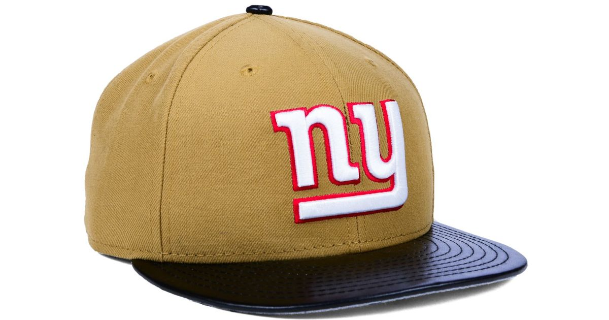 Lyst - KTZ New York Giants Faux-leather Wheat 9fifty Snapback Cap in  Natural for Men 774d23199aa