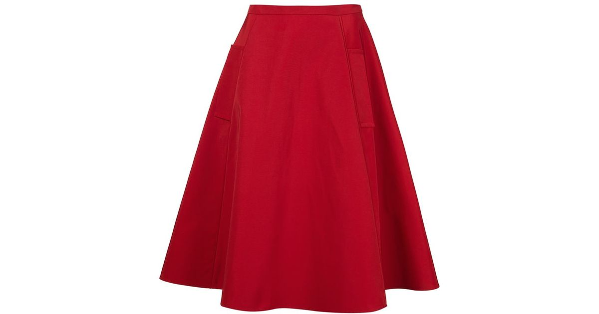 lanvin classic a line skirt in lyst