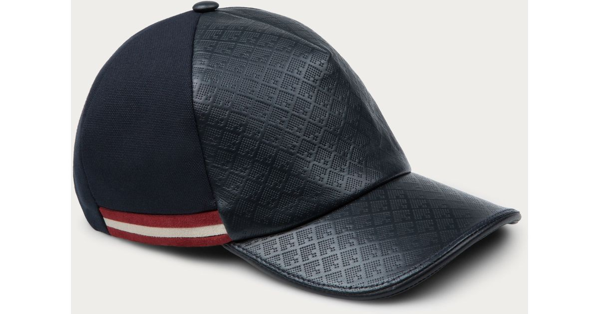a54e581d221 Lyst - Bally Printed Leather Baseball Cap Men s Printed Leather Cap In Dark  Navy in Black for Men