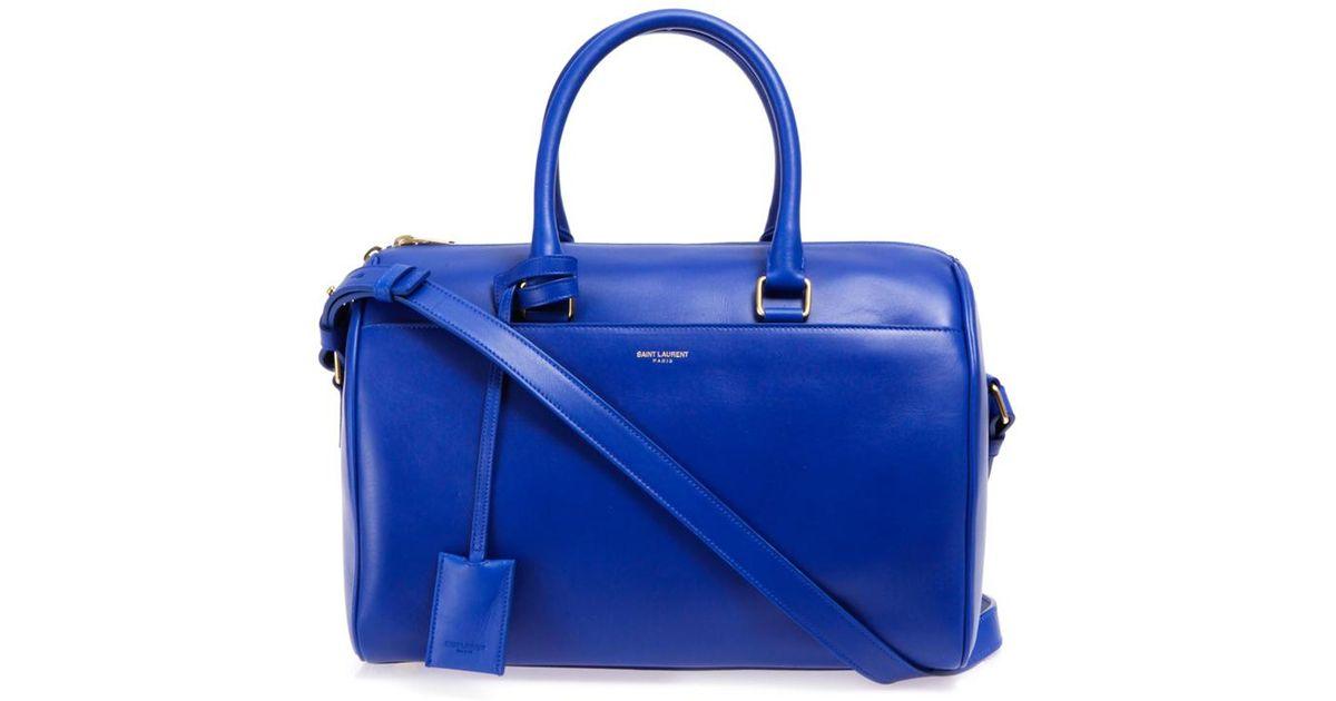 0e148d372e Lyst - Saint Laurent 6 Hour Leather Duffle Bag in Blue