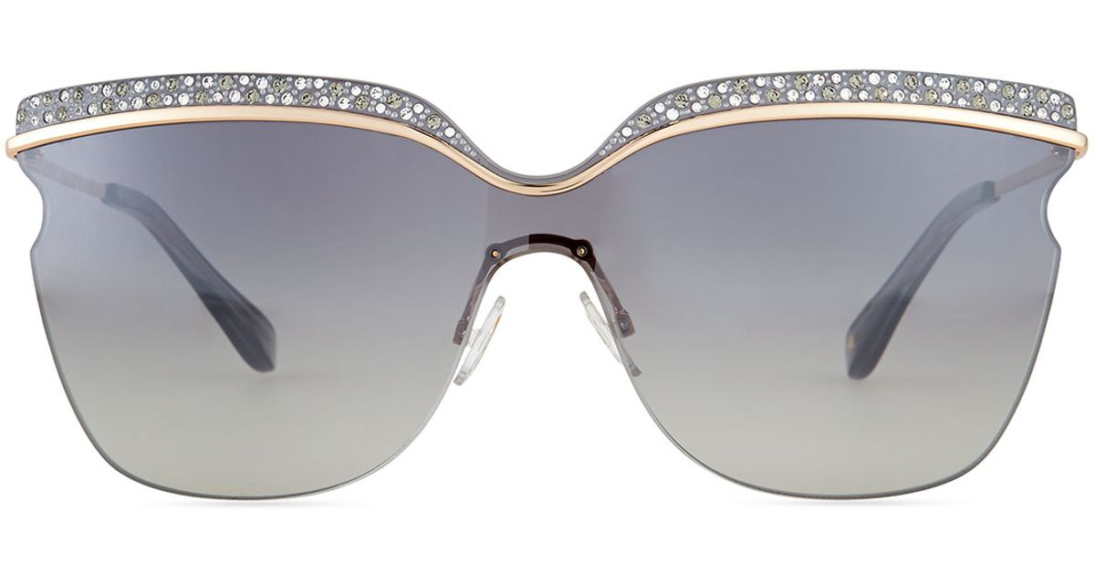 a32000a85054 Lyst - Jimmy Choo Jezebel Exaggerated-brow Sunglasses in Pink