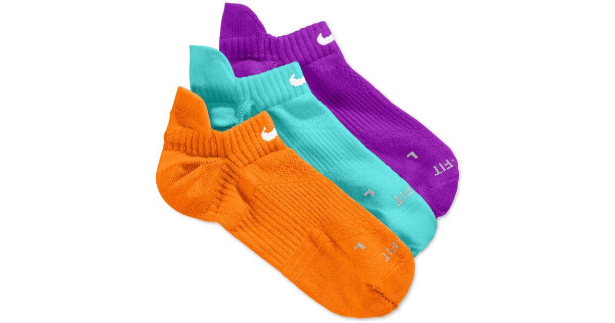 Nike Blue Women S Dri Fit Half Cushion No Show Socks 3 Pack