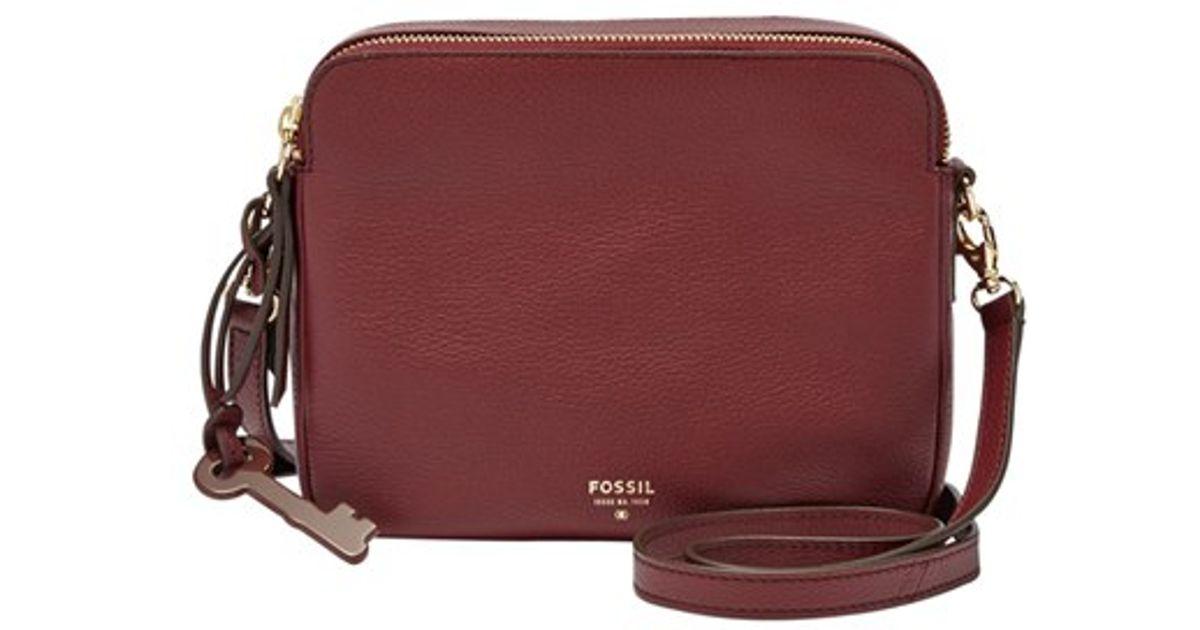 41b50882f13 Fossil 'sydney' Leather Crossbody Bag in Purple - Lyst