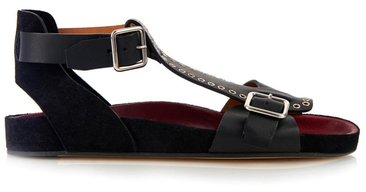 Isabel Marant Layne Leather Sandals outlet cheap choice online 6KvGbYq