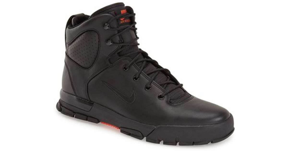 best website c922c 25341 Nike Air Nevist 6 Acg Leather Boots in Black for Men - Lyst