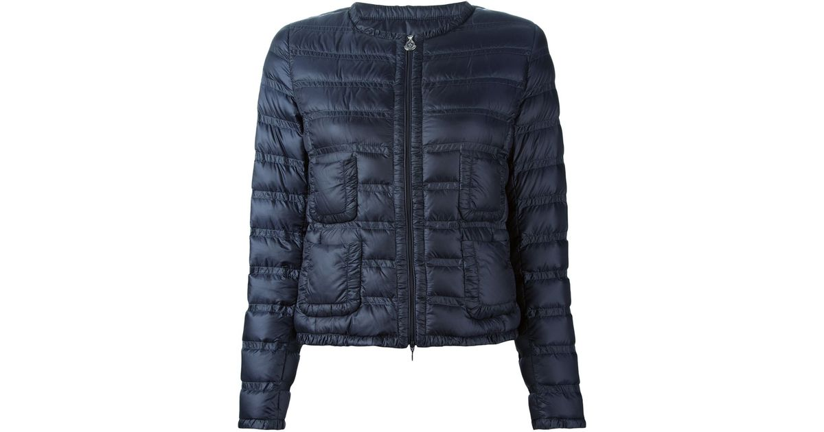 b28782e1e4d0 Lyst - Moncler Lissy Quilted Jacket in Blue