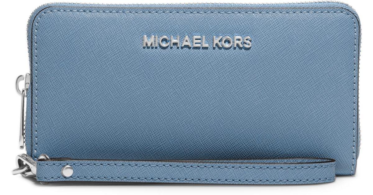 c2ad66141330 Michael Kors Jet Set Travel Wallet Pale Blue - Best Photo Wallet ...