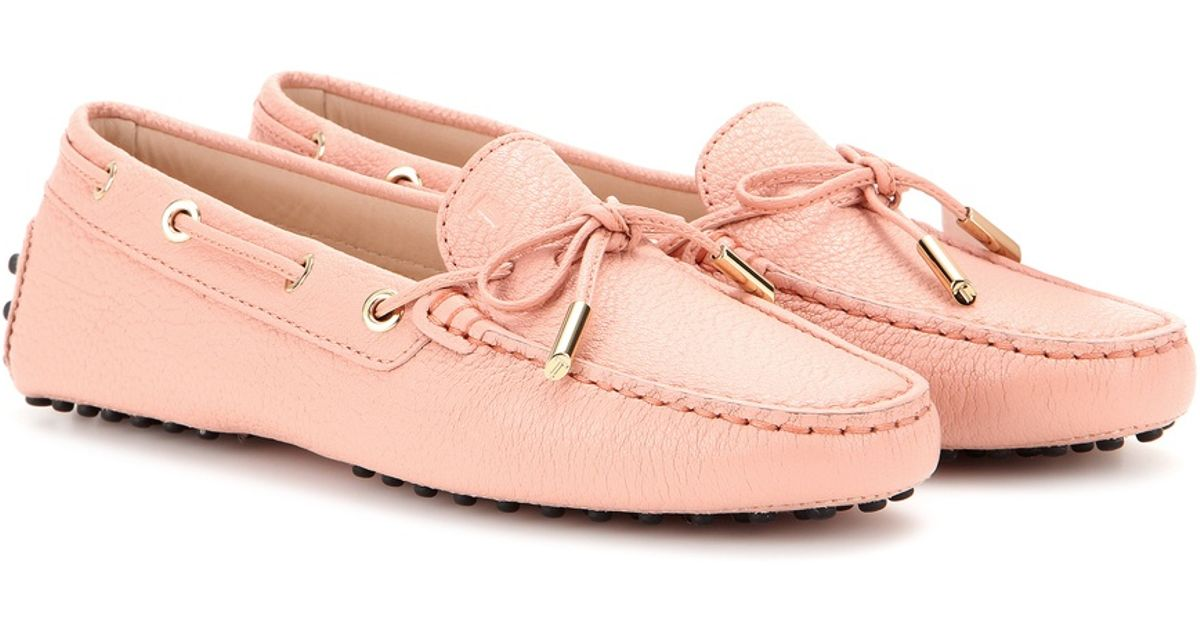 0f5733aaf8a Lyst - Tod S Heaven New Laccetto Leather Loafers in Pink