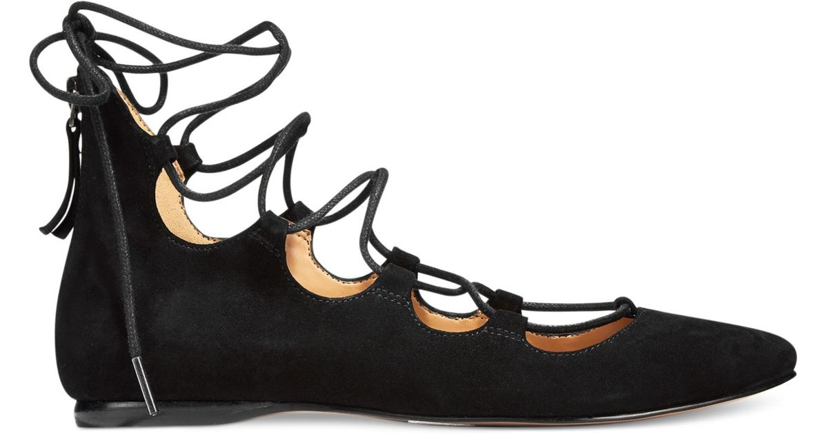 Nine West Suede Signmeup Lace-up Flats