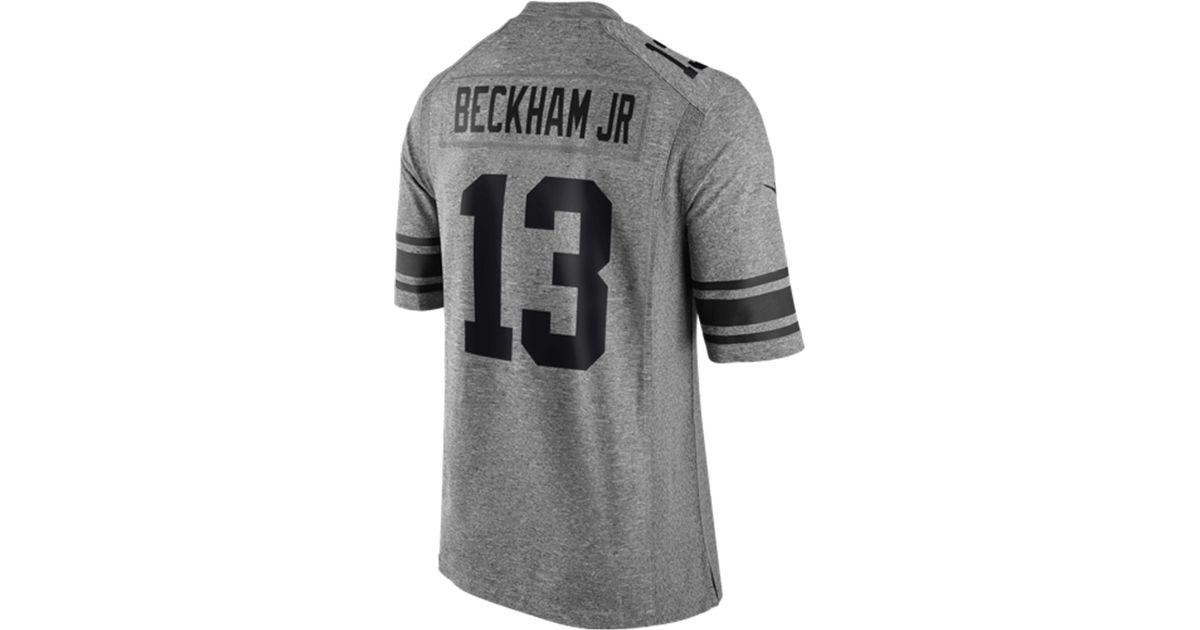 new concept ff918 1228c Nike Gray Men's Odell Beckham Jr. New York Giants Gridiron Jersey for men