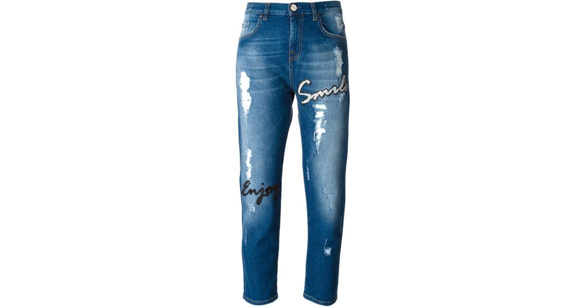 sports shoes bceb5 f1672 Pinko Blue Chianti Boyfriend Jeans