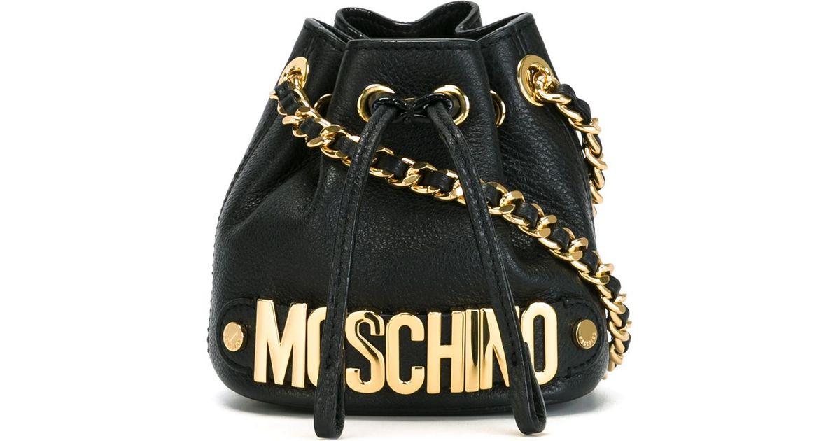 0f0a2c7d61d Moschino Mini Bucket Crossbody Bag in Black - Lyst