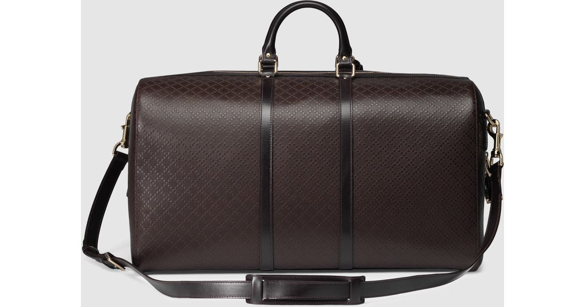 aa23c2527fb Lyst - Gucci Bright Diamante Carry-on Duffle in Brown for Men