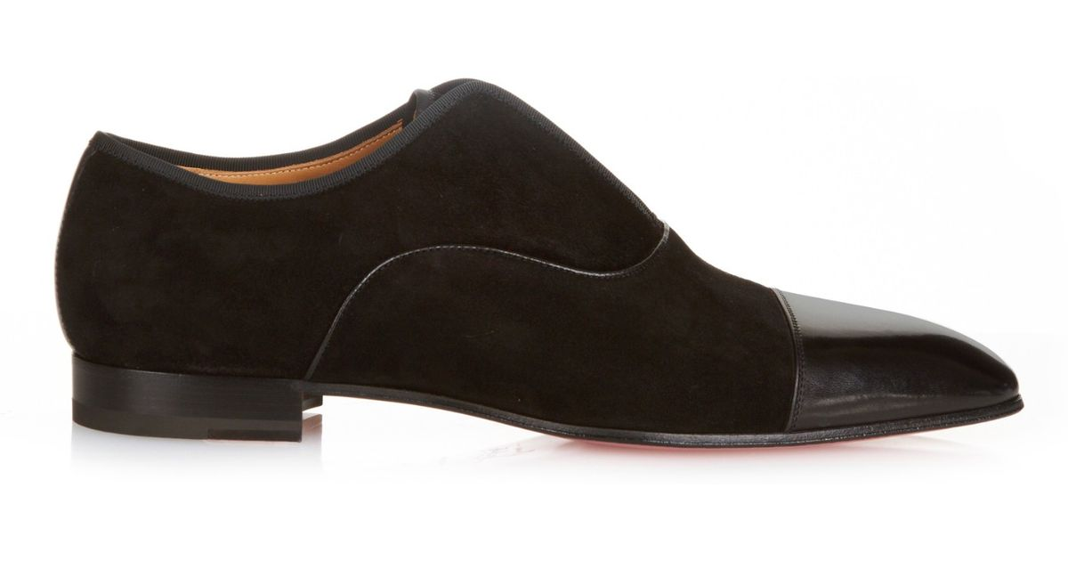 Christian Louboutin Black Alpha Male Suede Loafers For Men