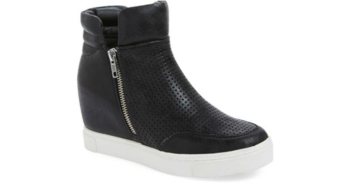 5143db25acd Steve Madden Black 'linqsp' Wedge Sneaker