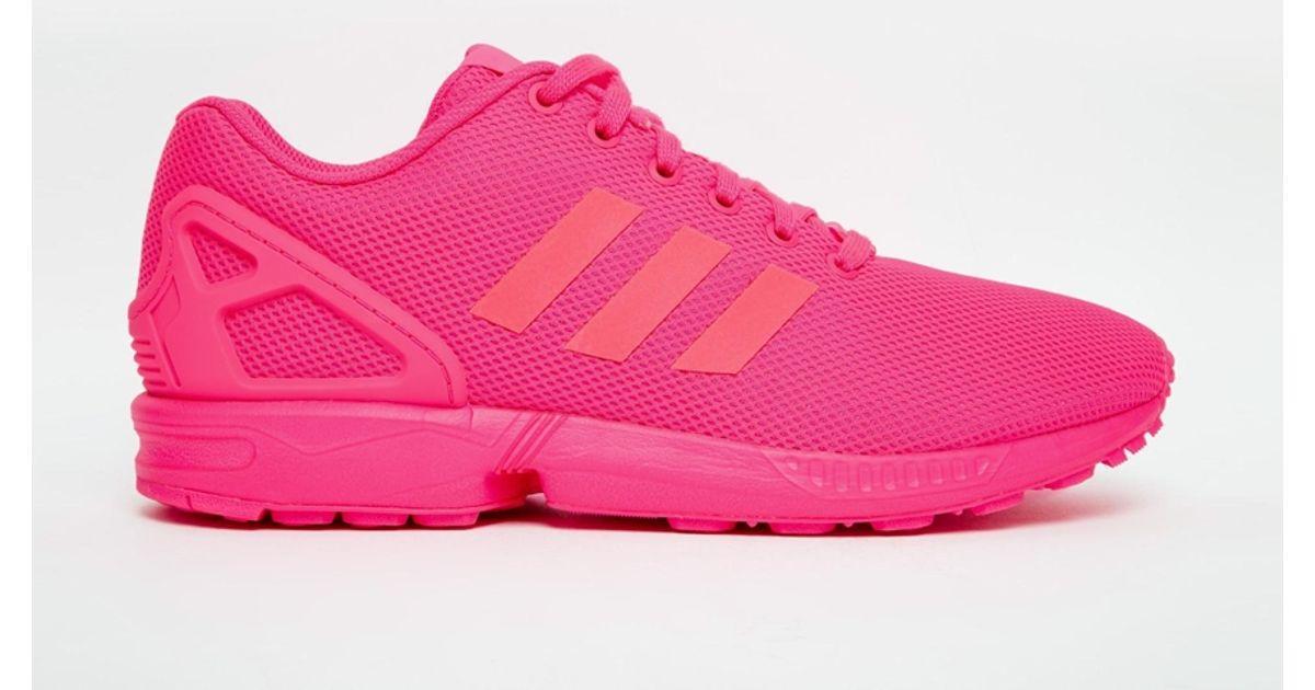more photos 42ac9 64fb6 Adidas Originals Pink Zx Flux Trainers S75490 for men