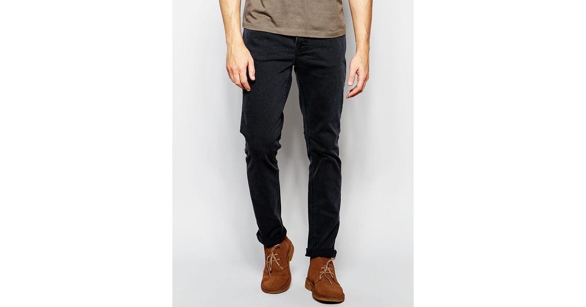 5dcc6491 Nudie Jeans Grim Tim Slim Fit Misty Ridge Washed Black in Black for Men -  Lyst