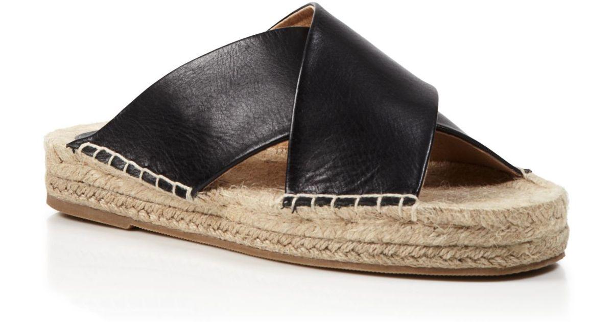 4fc745f4a93 Soludos Black Slide Espadrille Sandals - Crisscross