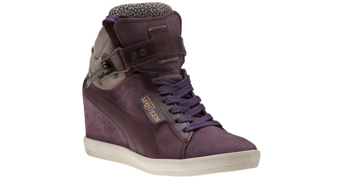 Lyst - Alexander McQueen X Puma Joustesse Wedge Sneakers in Purple b7ba3374c