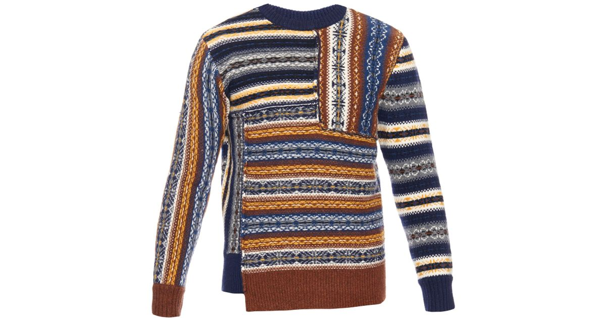 Lyst - Joseph Fair Isle Wool Sweater for Men