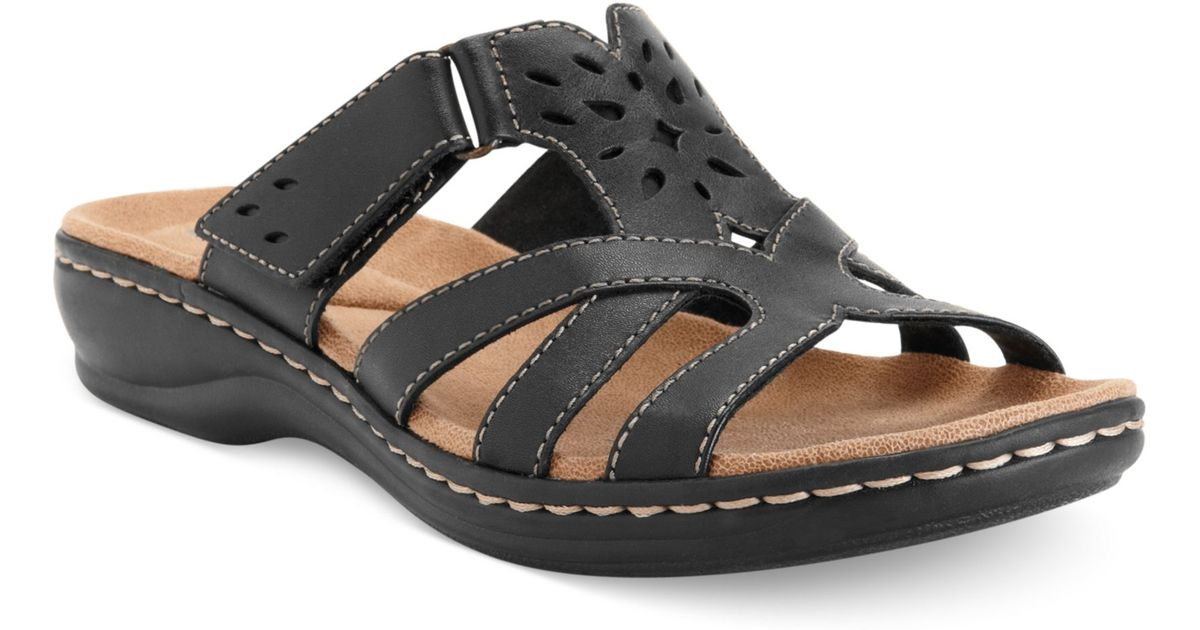 Clarks Womens Shoes Leisa Plum Sandals In Black Lyst