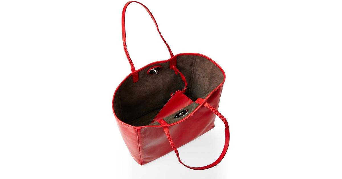 Lyst - Mulberry Red Medium Dorset Tote in Red 7c061b95219dc