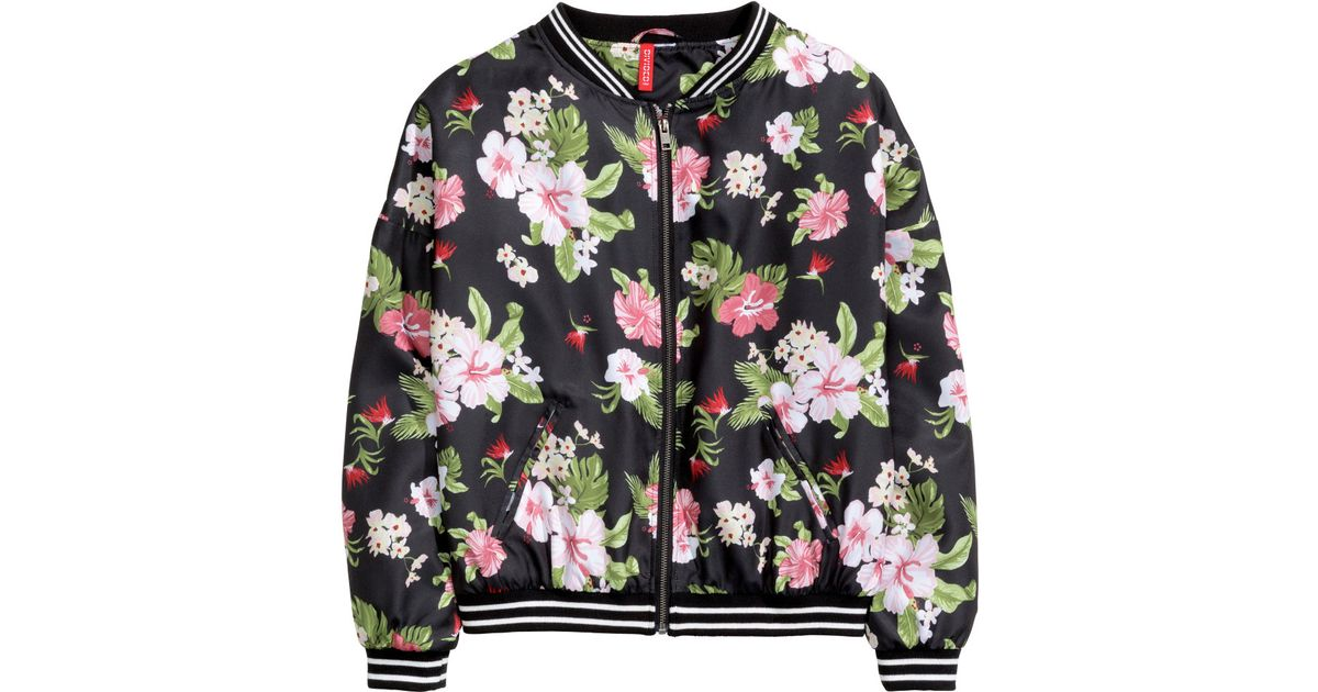 f9acd6873 H&M Multicolor Patterned Bomber Jacket