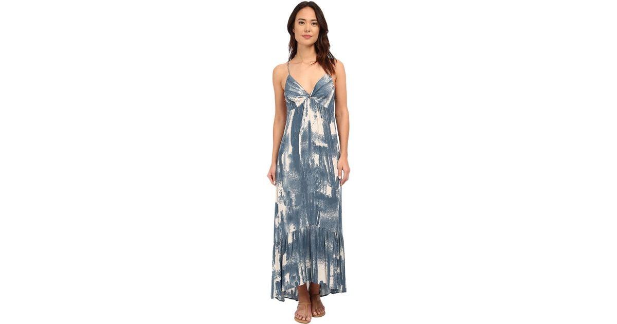 74d74e5a8a Brigitte Bailey Rahil Blured Cactus Maxi Dress in Blue - Lyst