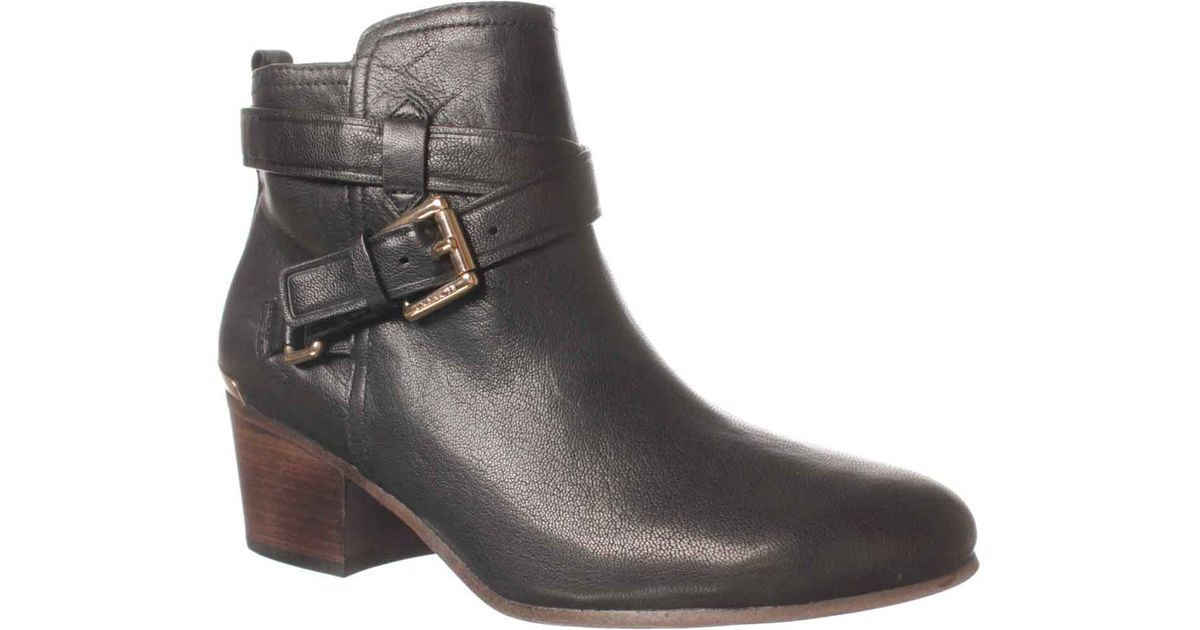 beb89f114ec COACH Black Pauline Ankle Boot