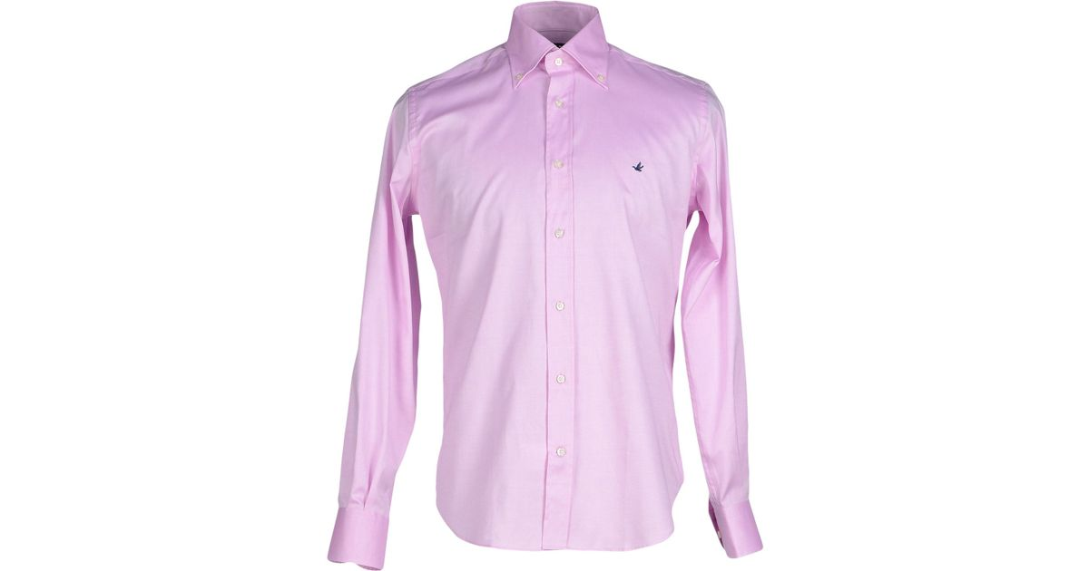 Brooksfield shirt in purple for men light purple lyst Light purple dress shirt men