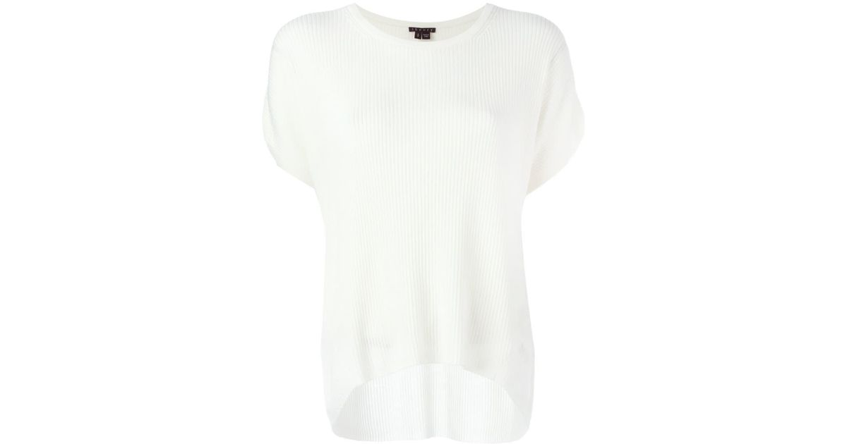 Theory Short-sleeve Sweater in White | Lyst