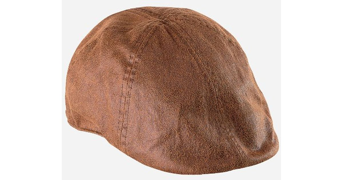 Lyst - San Diego Hat Company Mens Distressed Faux Suede Ivy in Brown for Men 8aa00123e51a