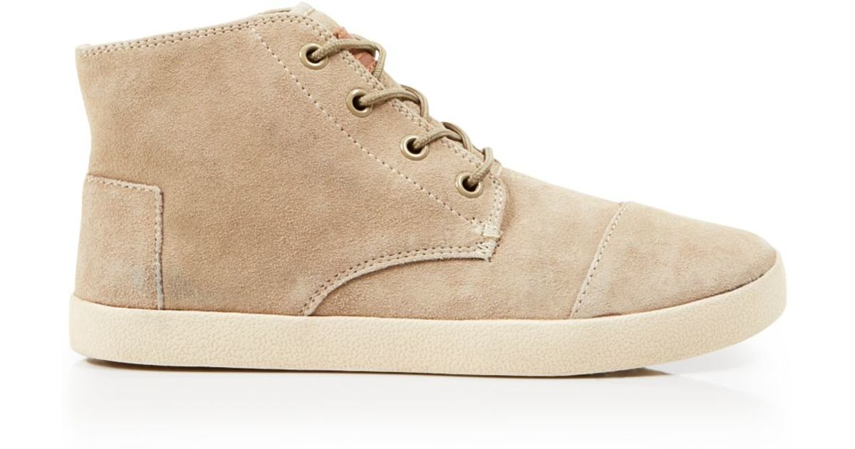 TOMS Suede High Top Sneakers - Paseo