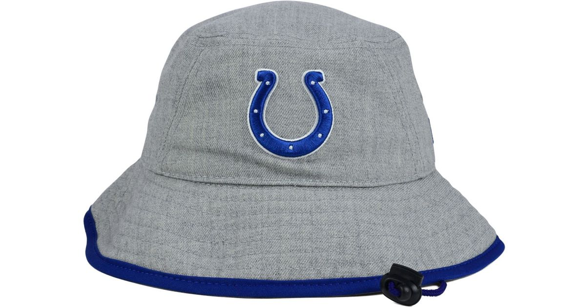 newest 6a3ad ec49e ... ireland lyst ktz indianapolis colts nfl heather gray bucket hat in gray  for men 36d43 a6cd5
