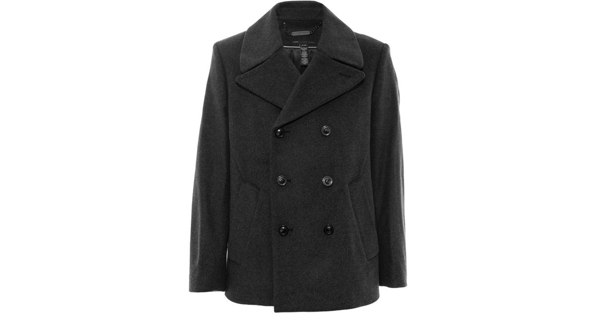 Lyst - Marc By Marc Jacobs Charcoal Nicholas Double Breasted Wool-blend  Peacoat in Gray for Men