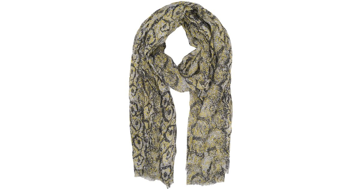 French Connection Green Soho Boa Print Scarf