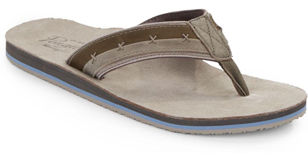 698520b1025b Lyst - Original Penguin Split Stitched Thong Sandals in Gray for Men