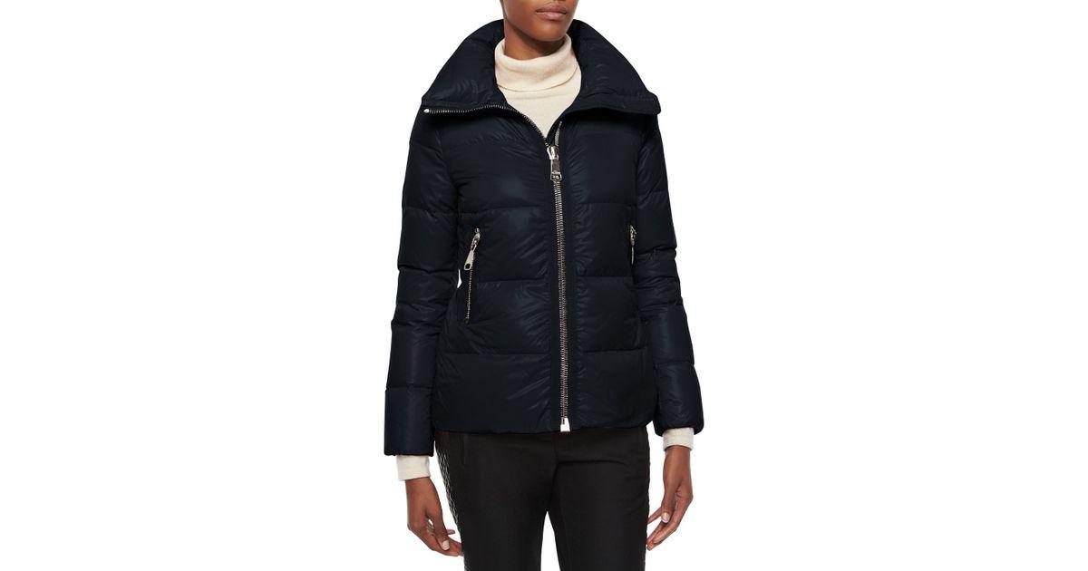 fce2d989d Moncler Black Joux High-neck Puffer Jacket