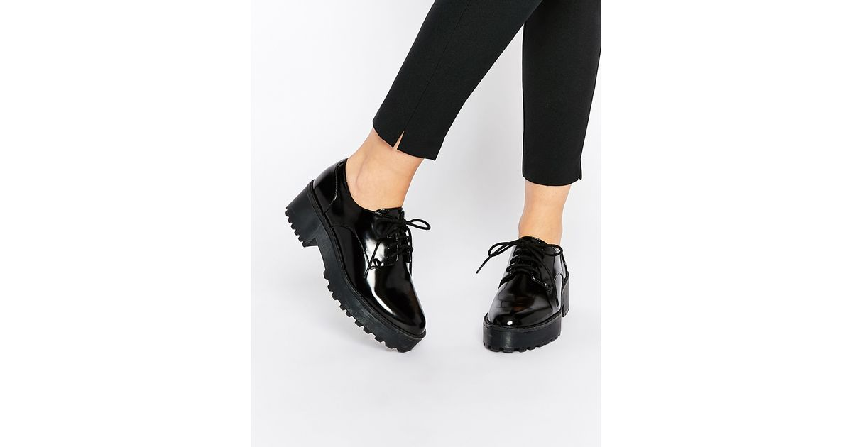 Monki Chunky Sole Lace Up Shoes in